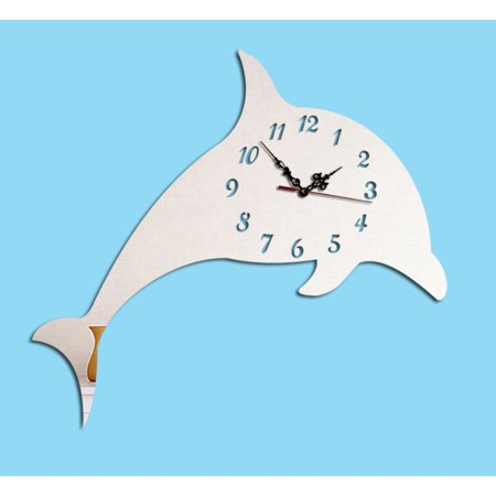 Work with your hand to create a DIY Acrylic Dolphin Clock. It comes complete with clock, clock hands, Dolphin and an instruction. Product Size: Height 10