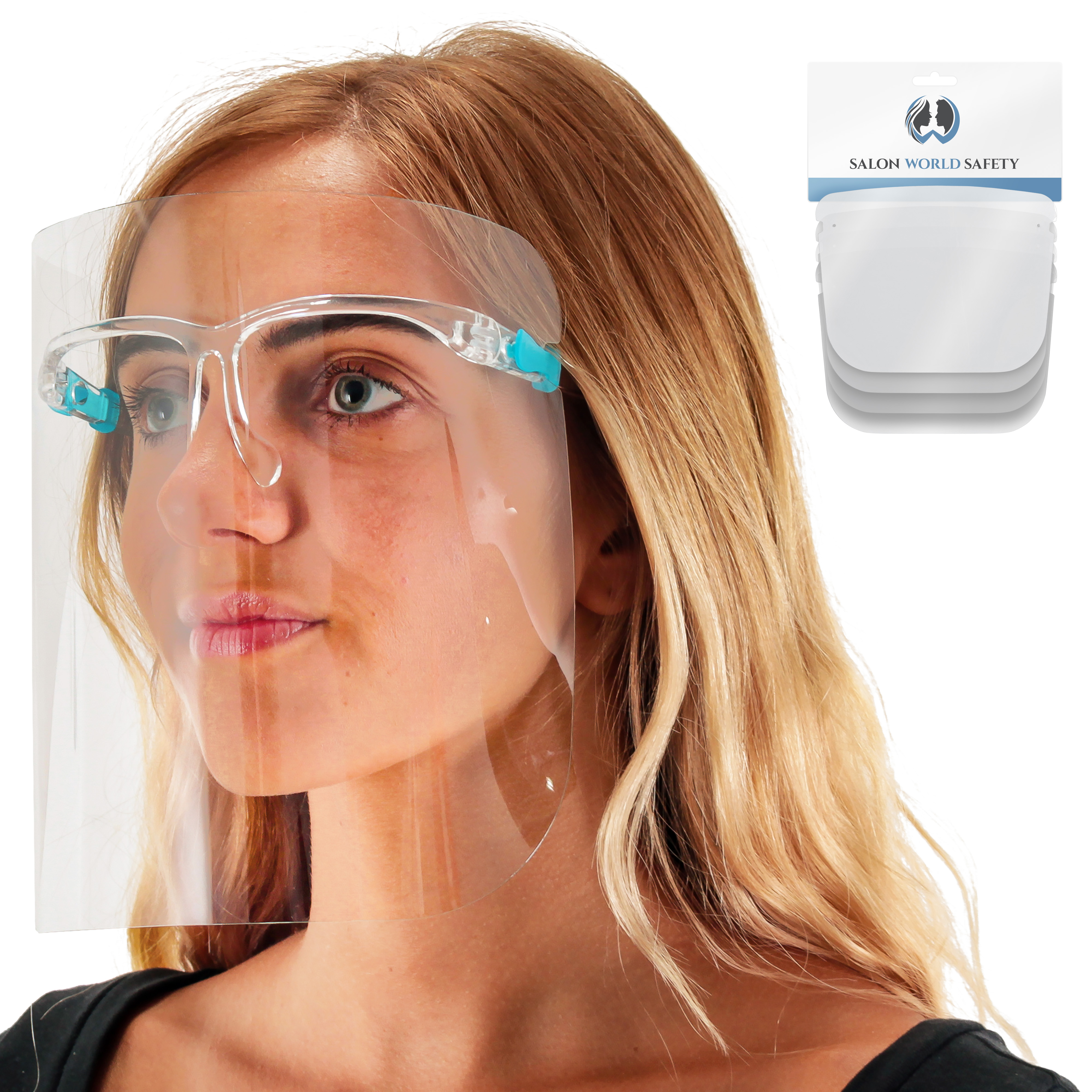 Face Shield for Everyone Outdoor Activities Protection 1PCS,L mfpthxf Fashion Style Transparent Glasses Face Shield Anti-Fog Material-Transparent Glasses with HD Lenses