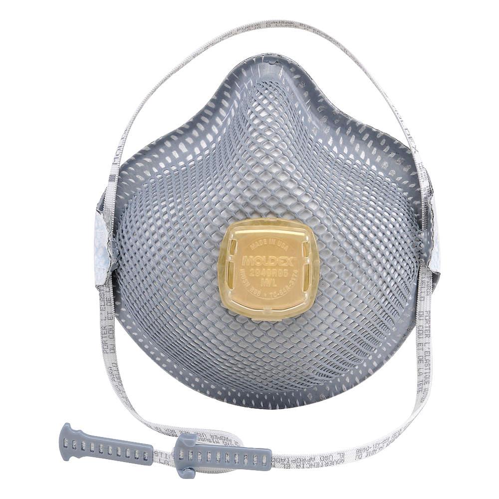MOLDEX R95 Disposable Particulate Respirator, Gray, M L, 10PK 2940R95 by Moldex