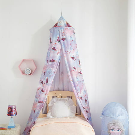 Disney Frozen 2 Purple Bed Canopy Tent, Elsa & Anna