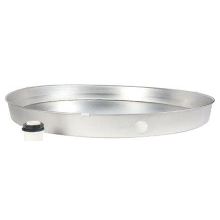 CAMCO MFG Water Heater Drain Pan With Fitting, Aluminum, 22 x 2.25-In.