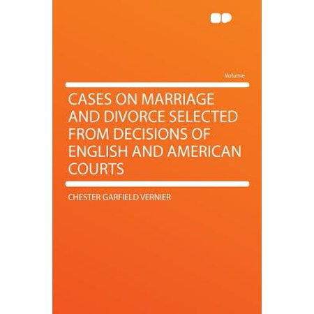 Cases on Marriage and Divorce Selected from Decisions of English and American Courts](Garfield Halloween English)