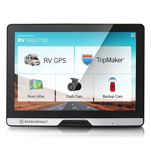 "Rand McNally RV Tablet 80 8"" Widescreen Display w/Advance Navigation & Trip Planning"