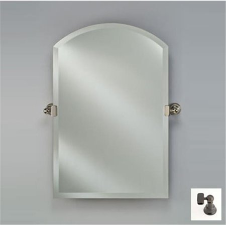 Afina Corporation RM-525-OB-T 16X25 ARCH TOP FRAMELESS WITH TILT BRACKETS OIL RUBBED BRONZE TRADITIONAL BRACKETS