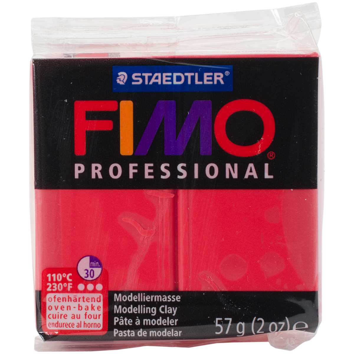 Fimo Professional Soft Polymer Clay 2oz-Red