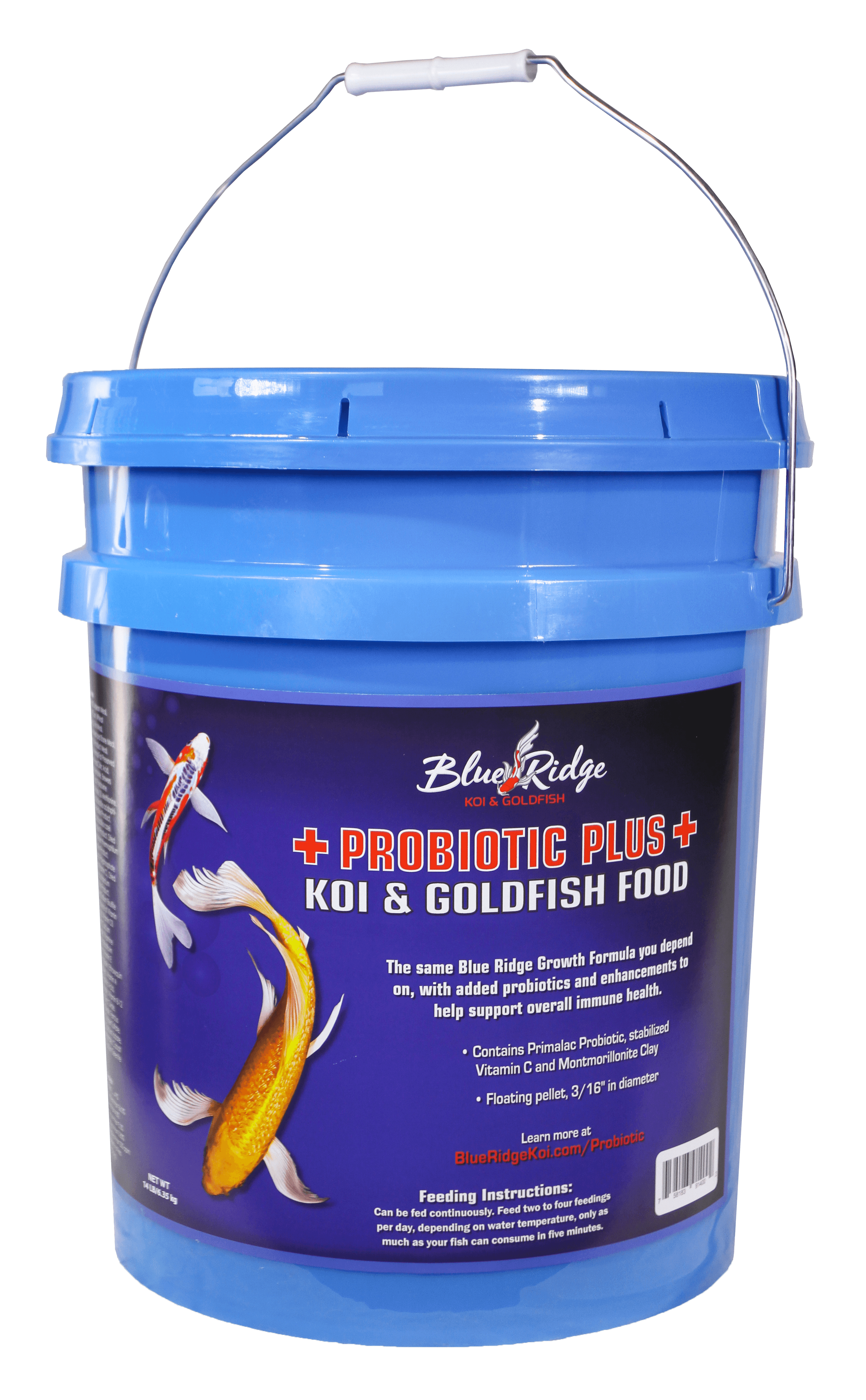Blue Ridge Probiotic Plus Koi & Goldfish Food Fish Food Pellets, 14 lb by Blue Ridge Koi & Goldfish