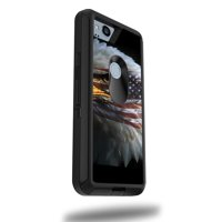 MightySkins Skin Compatible With OtterBox Defender Google Pixel 2 XL 5.5 Case - America Strong | Protective, Durable, and Unique Vinyl cover | Easy To Apply, Remove | Made in the USA