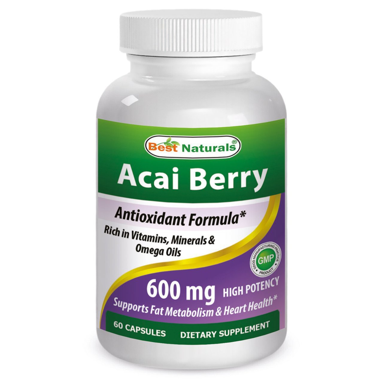 Best Naturals Acai Berry 600 mg 60 Capsules