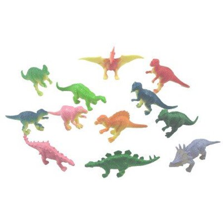 Party Figure - Mini vinyl DINOSAURS - 36 pc - Great party favors, stocking stuffers, cake decorations and more!all are mini figures, all are 2inch size By Rhode Island Novelty