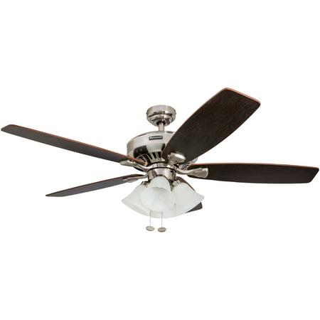 52 honeywell birnham brushed nickel ceiling fan with 4 light 52 honeywell birnham brushed nickel ceiling fan with 4 light aloadofball Choice Image