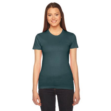 Brown American Apparel T-shirt (American Apparel Womens Fine Jersey Short-Sleeve T-Shirt (2102) -FOREST -M )