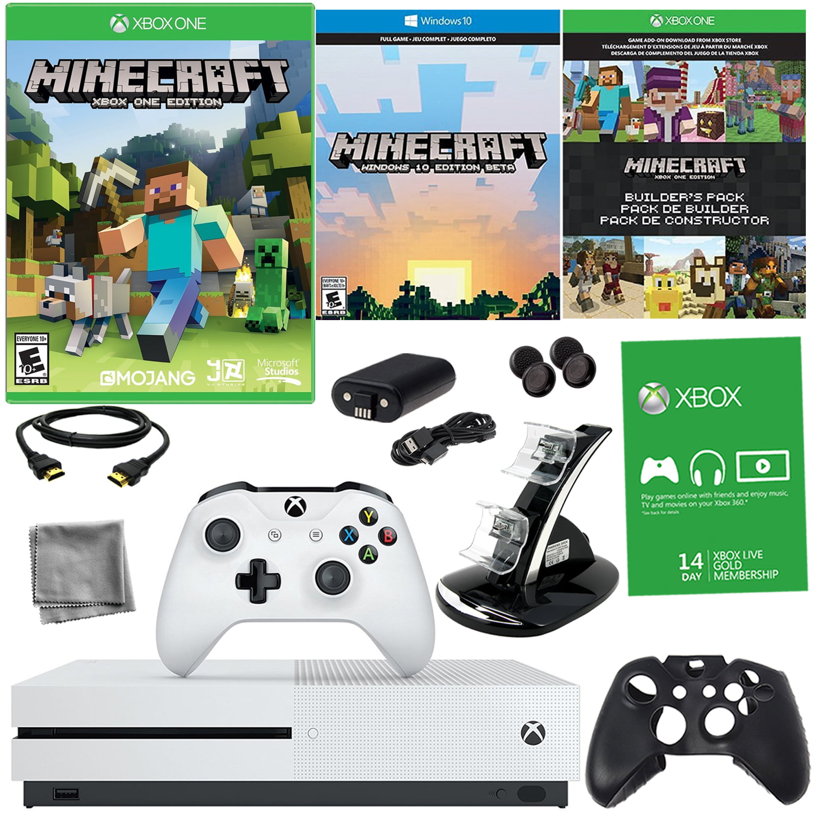 Xbox One S 500GB Minecraft Bundle With 8-in-1 Kit En VeoyCompro