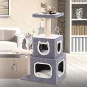 Penn Plax Dual Hide-Away Tower with Landing Pad & Scratching Posts