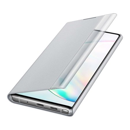 SAMSUNG Note 10 S-View Flip Cover, Silver