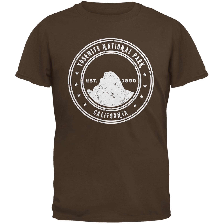 Yosemite National Park Brown Adult T-Shirt