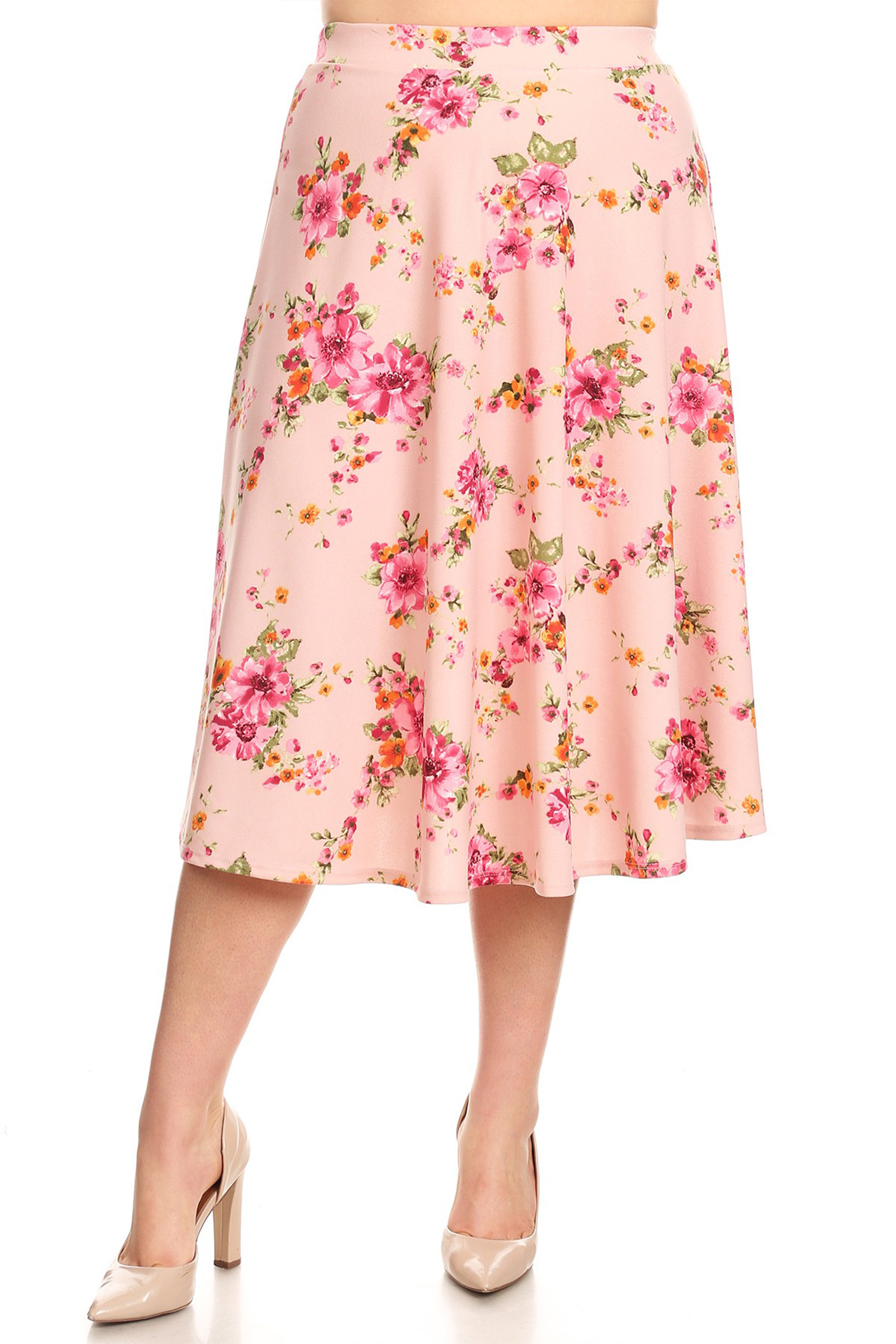 Women's Plus Size Floral Pattern Skirt