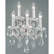 13 in. Maria Theresa Wall Sconce in Chrome Finish (Crystalique)