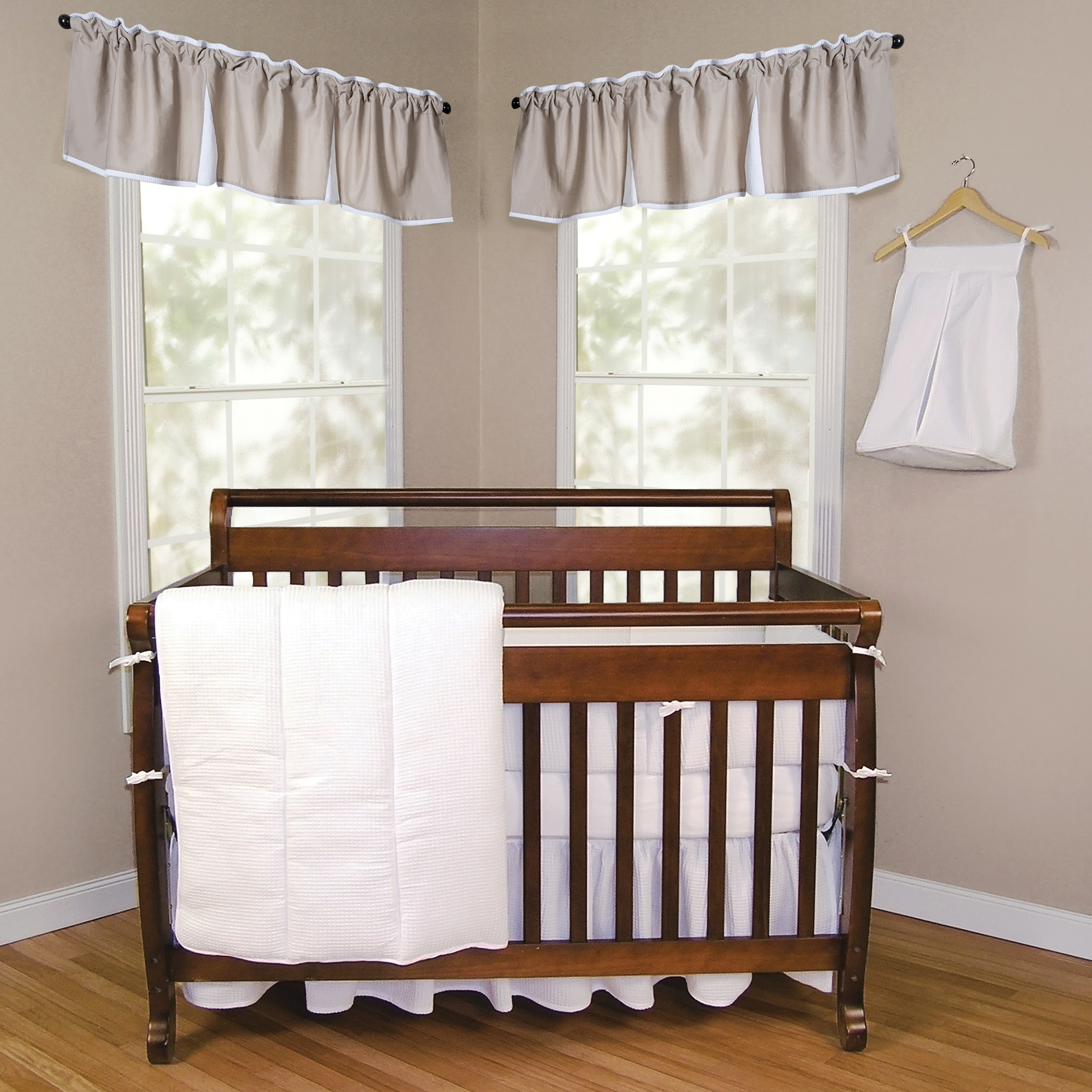 Trend Lab Pique White 3 Piece Crib Bedding Set