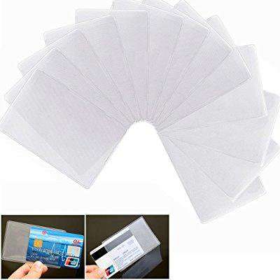 Bronagrand 20pcs soft transparent frosted vertical id credit card bronagrand 20pcs soft transparent frosted vertical id credit card holder business card protector plastic sleeves colourmoves