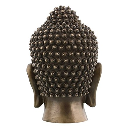 6.5 Inch Buddha Head Buddhist Religious Bronze Finish Statue Figurine
