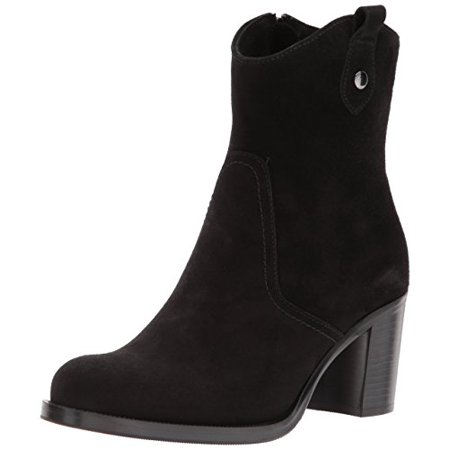 La Canadienne Women's PHINN Fashion Boot, Black Suede, 9.5 M US