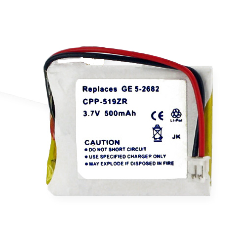 """EM-CPP-519ZR - Li-Pol, 3.7 Volt, 500 mAh, Ultra Hi-Capacity Battery - Replacement Battery for GE 5-2682 Cordless Phone Battery"""