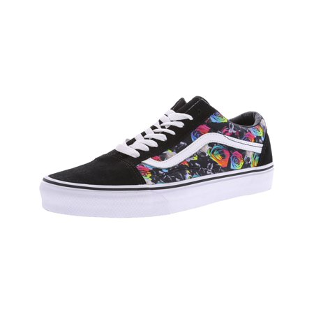 Vans - Vans Old Skool Rainbow Floral Black   True White Ankle-High  Skateboarding Shoe - 9M 7.5M - Walmart.com 7afc7dad9