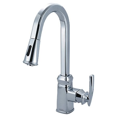 Pioneer 2GB250-BN Single Handle Kitchen Pull-Down Faucet, PVD Brushed Nickel Finish