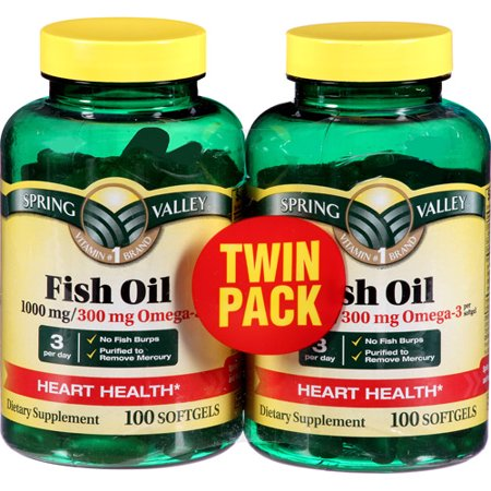 Spring valley sv fish oil ec 1000mg twin pack 100 100 for Spring valley fish oil review