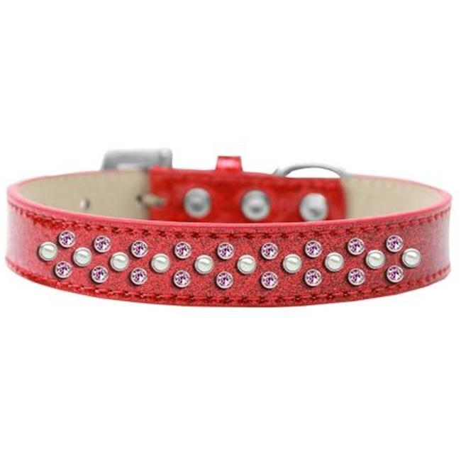 Sprinkles Ice Cream Dog Collar Pearl And Light Pink Crystals Size 16 Red - image 1 of 1