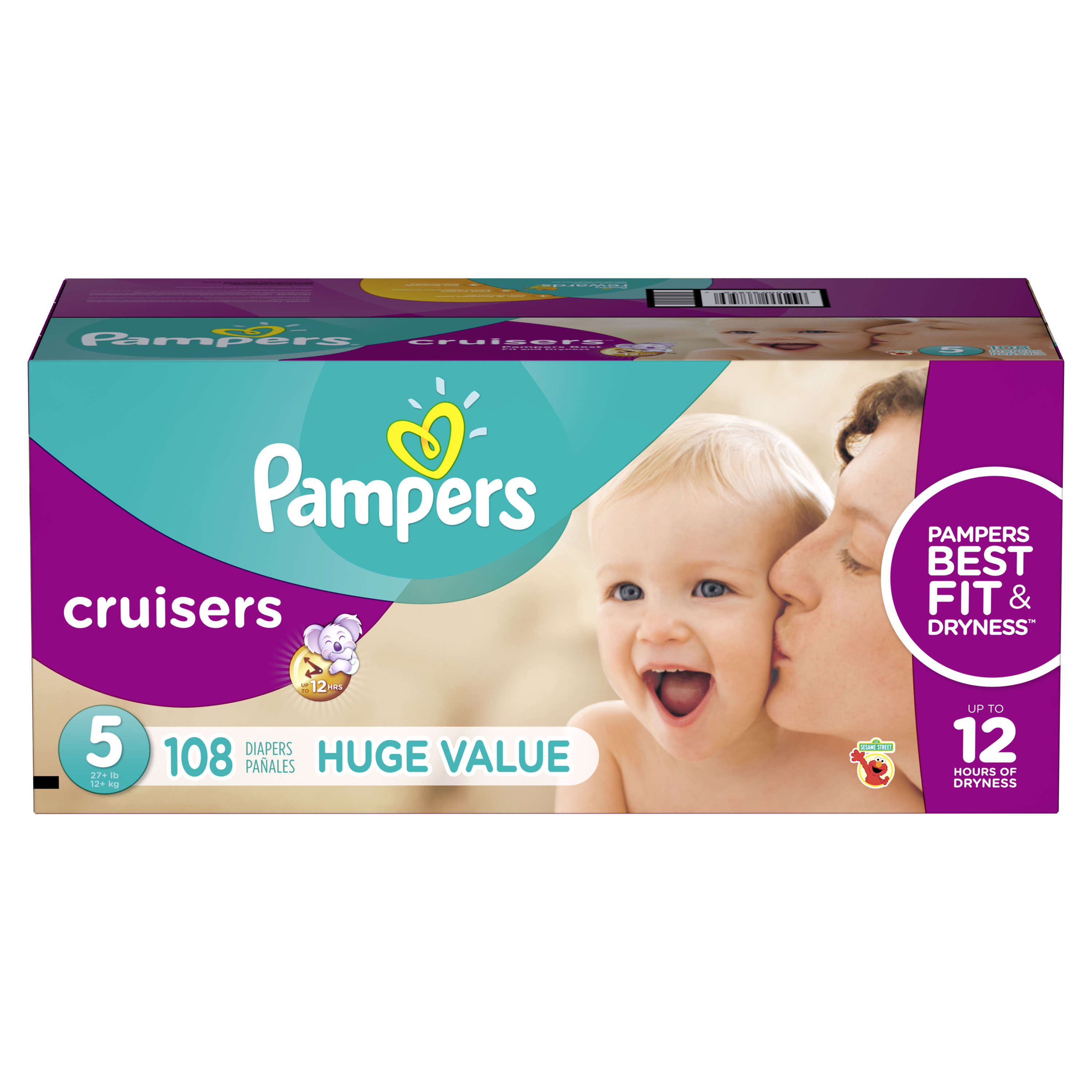 Pampers Cruisers Diapers, Size 5, 108 Diapers by Pampers