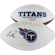 Corey Davis Tennessee Titans Autographed White Panel Football - Fanatics Authentic Certified