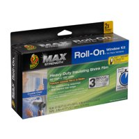Duck Brand Max Strength Roll-On Window Insulation Kits - Transparent, 3-Pack, 62 in. x 120 in.