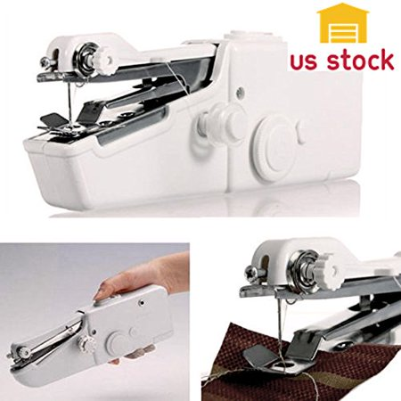 Thegood88 Mini Portable Smart Electric Tailor Stitch Hand-held Sewing Machine Home