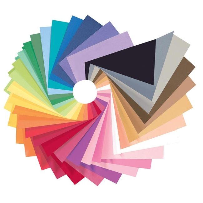 Pacon Peacock Sulphite Construction Paper, 76 lbs., 12 x 18, Assorted, 50 Sheets/Pack - PACP6512