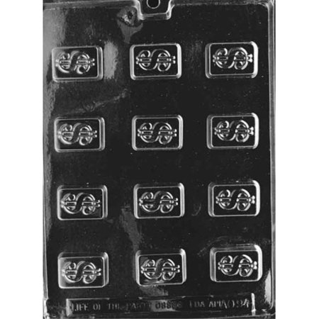 Cybrtrayd Life of the Party AO094 Dollar Sign All Occasions Chocolate Candy Mold in Sealed Protective Poly Bag Imprinted with Copyrighted Cybrtrayd Molding Instructions , Bite Size - Party Dollar