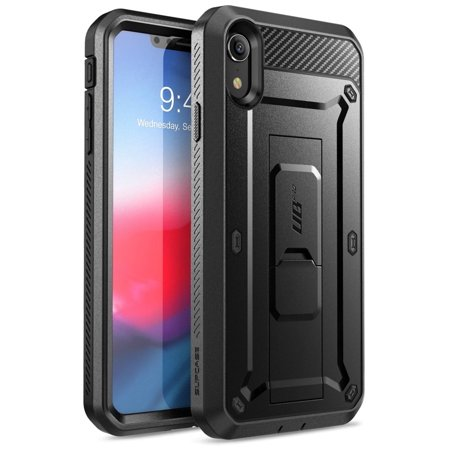 Telephone Accessories Packaged - iPhone XR Case, SUPCASE Full-Body Rugged Holster Case with Built-in Screen Protector for Apple iPhone XR (2018 Release), Unicorn Beetle Pro Series -Retail Package (Black)