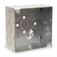 """Electrical Box, Square, 4"""" x 4"""" x 2"""", 30.3 cu. in., 2 gang"""