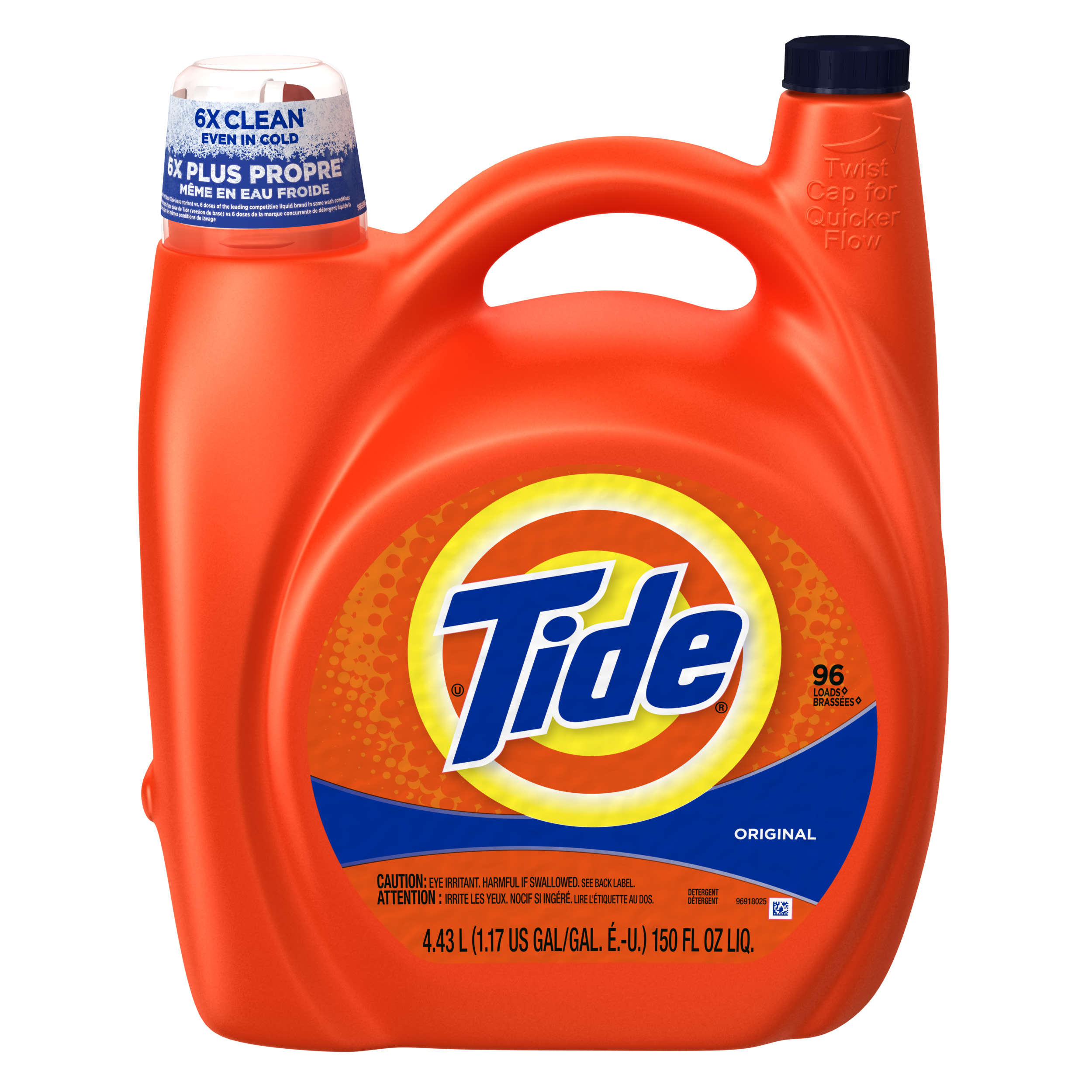 Tide Original Scent Liquid Laundry Detergent, 96 Loads, 150 fl oz