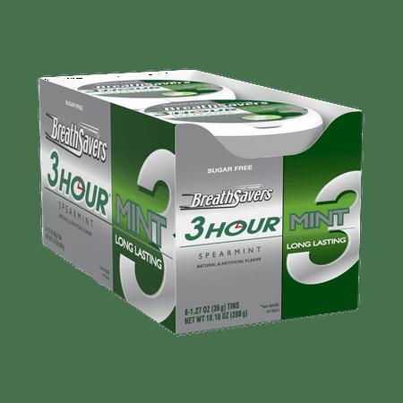 Breath Savers, 3 Hour Spearmint Breath Mints, 1.27 Oz, 8 Ct