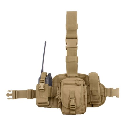 Rothco MOLLE Drop Leg Utility Rig Tactical Platform w/3 Removable Pouches