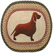 "Earth Rugs OP-079 Dachshund Design Rug, 20 x 30"", Burgundy/Gray/Crème"