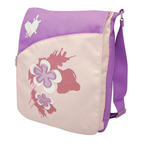 Three Spring Flower Sling Bag in Purple