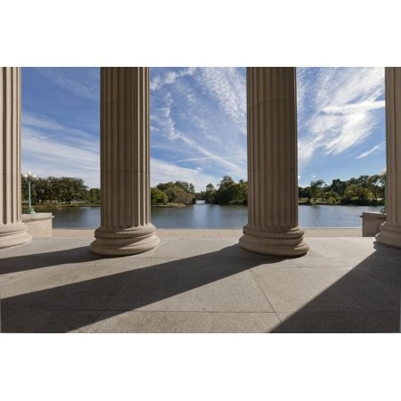 - The South Portico of the Museum of Science and Industry Print Wall Art