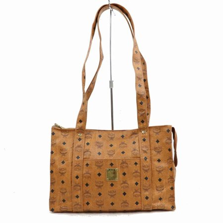 - Cognac Monogram Visetos Book Tote with Long Straps 870472 Brown Coated Canvas Shoulder Bag