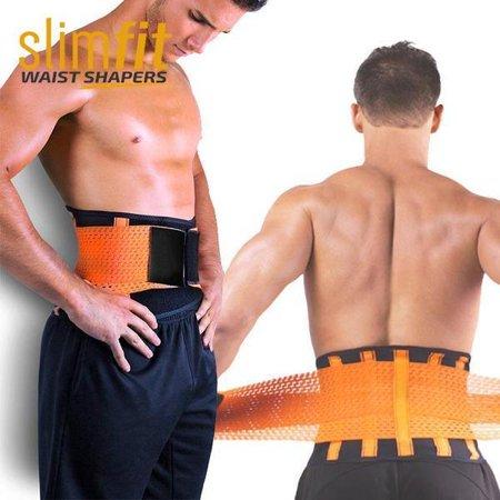 6ce2ba0d88f Men SlimFit Waist Trainer Belt Body Shaper Belly Wrap - Black -Trimmer  Slimmer Compression Band ...
