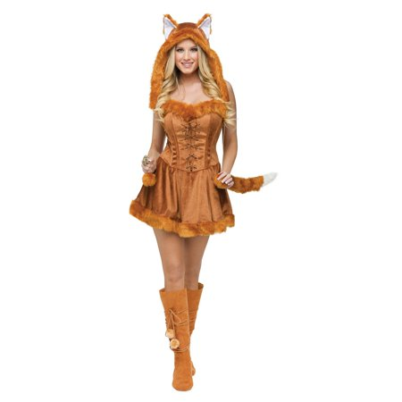 Fun World Women's Fox Foxy Lady Halloween Costume, Small/Medium - Star Fox Costume For Sale
