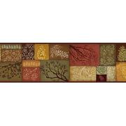 Brewster Tll35511b Wenham Red Pinecone Collage Border Wallpaper - MultiColor