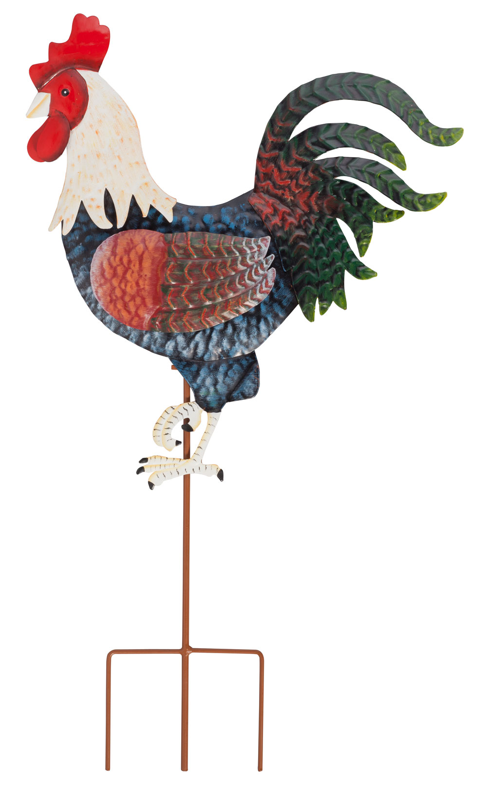 Rooster Metal Garden Stake by Maple Lane Creations by Miles Kimball