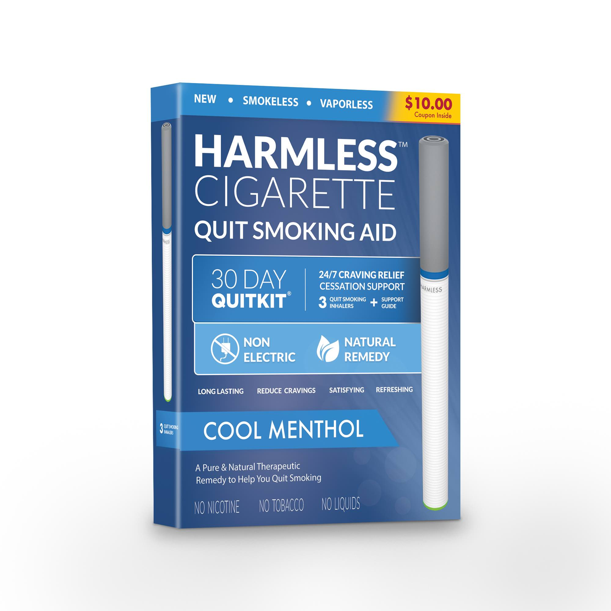 30 Day Quit Kit / Stop Smoking Aid To Help Quit Smoking / Best Stop Smoking Product / Therapeutic Quit Smoking Product.